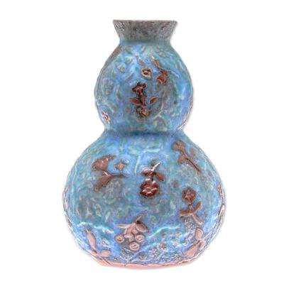 Celadon ceramic vase, 'Orchid Glory' - Celadon Ceramic Vase