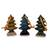 Celadon ceramic Christmas ornaments, 'Winter Pines' (set of 3) - Celadon ceramic Christmas ornaments (Set of 3) thumbail