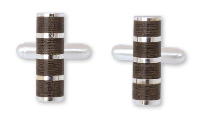 Sterling silver cufflinks, 'Forest Hero' - Sterling silver cufflinks