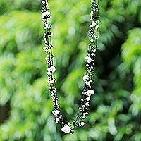 Cultured pearls long necklace, 'Sweet Sophistication'