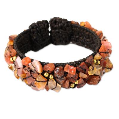 Artisan Crafted Carnelian Cuff Bracelet