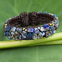 Featured review for Lapis lazuli cuff bracelet, Ocean Day