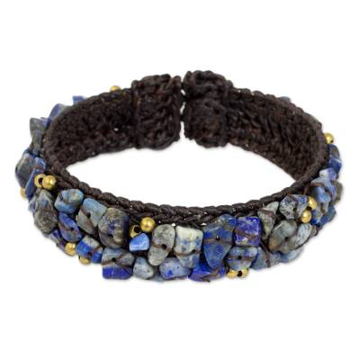 Fair Trade Lapis Lazuli Cuff Bracelet