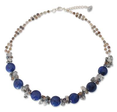 Beaded Quartz and Agate Necklace