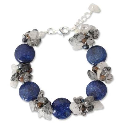 Handcrafted Pearl and Agate Beaded Bracelet