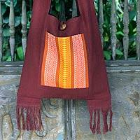 Cotton sling bag, 'Chiang Mai Mosaic' - Cotton Sling Bag from Thailand