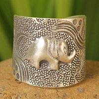 Sterling silver wrap ring, 'King of the Forest'