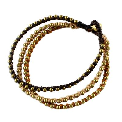 Handcrafted Brass Beaded Bracelet