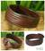 Leather wristband bracelet, 'Many Rivers' - Brown Leather Wristband Bracelet thumbail