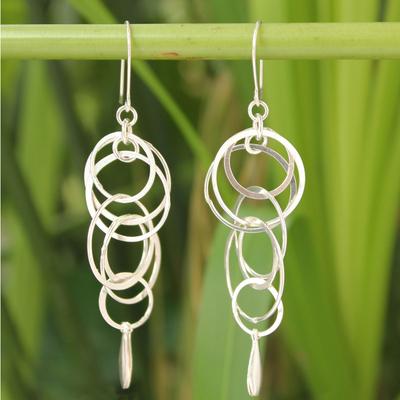Sterling silver dangle earrings, 'Magic' - Sterling Silver Dangle Earrings