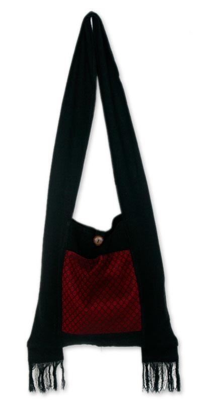 Cotton Sling Handbag from Thailand