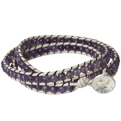 Amethyst Wrap Bracelet from Thailand