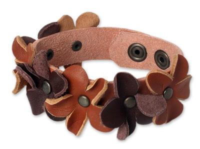 Leather Wristband Bracelet Handmade in Thailand