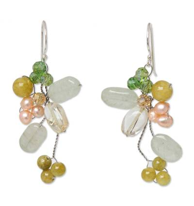 Pearl and Quartz Earrings