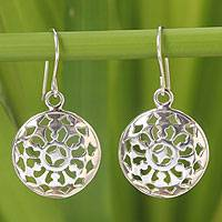 Sterling silver dangle earrings, 'Starry Sky' - Artisan Dangle Earrings