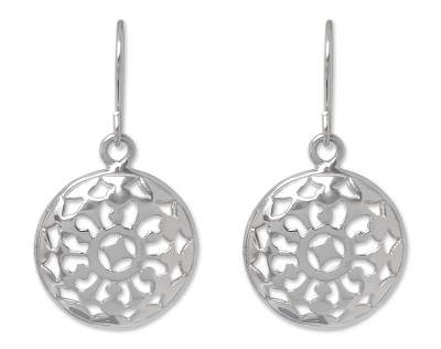 Artisan Crafted Silver Dangle Earrings