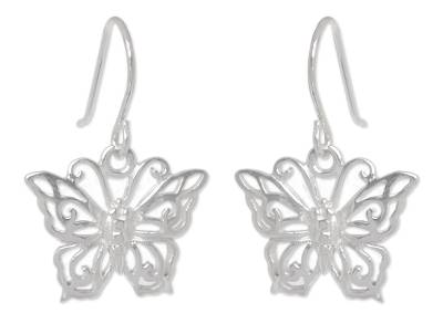 Sterling Silver Dangle Earrings from Thailand
