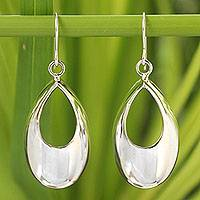 Sterling silver dangle earrings, 'Glamour in the Rain'