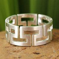 Sterling silver band ring, 'Timeless' - Hand Crafted Sterling Silver Band Ring