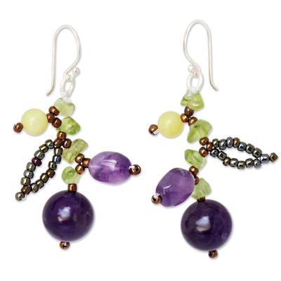 Fair Trade Amethyst Beaded Earrings