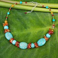 Beaded necklace, 'Bold Harmony' - Beaded necklace