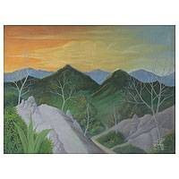 'Rocky Mountain' - Original Landscape Painting from Thailand