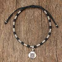 Silver braided bracelet, 'Hill Tribe Friendship' - Hill Tribe Braided Bracelet
