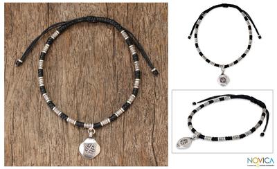 Silver braided bracelet, 'Hill Tribe Friendship' - Hill Tribe Silver Braided Bracelet