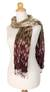 Scarf, 'Fabulous Earth' - Patterned Scarf from Thailand (image 2a) thumbail
