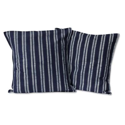 Batik Cotton Striped Cushion Covers (Pair)