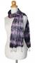 Tie-dyed scarf, 'Smoky Rose' - Tie Dye Scarf from Thailand (image 2b) thumbail