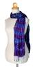 Tie-dyed scarf, 'Smoky Lily' - Hand Made Tie-dyed Scarf (image 2b) thumbail