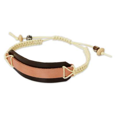 Leather Wristband Bracelet from Thailand