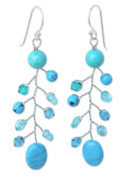Turquoise Colored Dangle Earrings