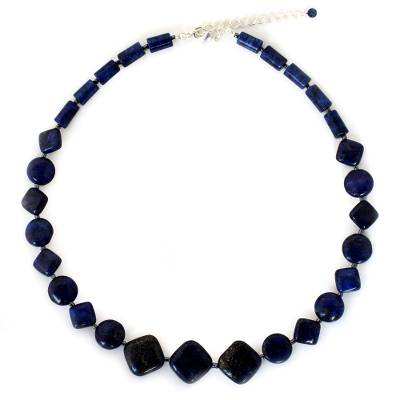 Beaded Lapis Lazuli Necklace from Thailand