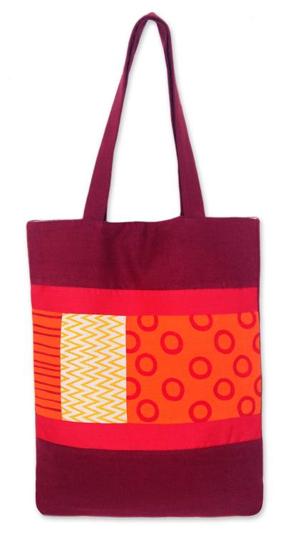 Cotton batik shoulder bag