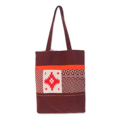 Handmade Geometric Cotton Shoulder Bag
