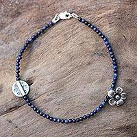 Featured review for Lapis lazuli beaded bracelet, Hill Tribe River