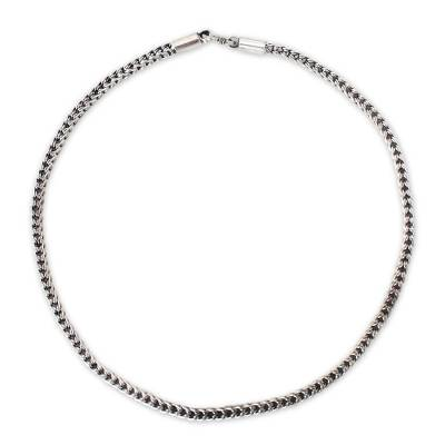 Sterling silver chain necklace, 'Intricate Textures' - Sterling silver chain necklace