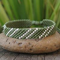 Silver accent wristband bracelet,