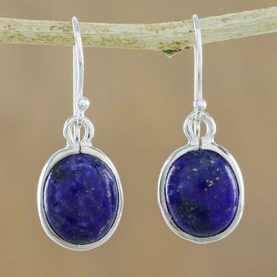 e21aa1aa6 Thai Sterling Silver and Lapis Lazuli Earrings, 'Majestic Blue'. Product  ID: U19459