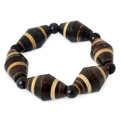 Hand Made Coconut Shell Beaded Bracelet