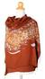 Silk batik shawl, 'Fireworks on Copper' - Unique Batik Silk Shawl (image 2a) thumbail