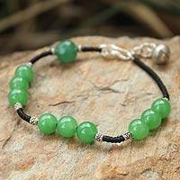 Beaded bracelet, 'Hill Tribe Forest' - Beaded bracelet