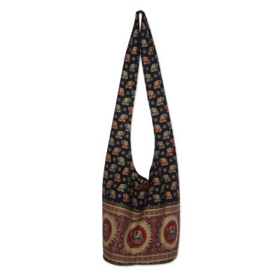 Cotton Elephants Shoulder Bag
