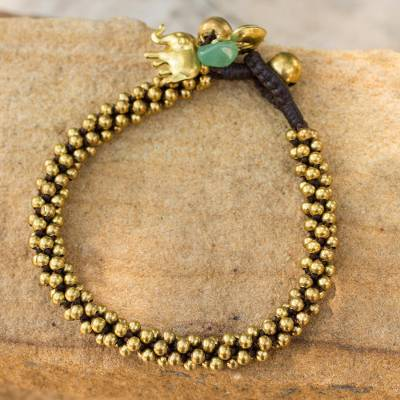 Brass beaded bracelet, 'Northern Chic' - Brass beaded bracelet