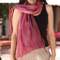 Pin tuck scarf, 'Plum Transition' - Pin tuck scarf