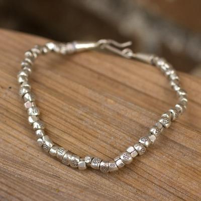 Novica Silver beaded bracelet, Pod Duang Chic