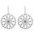 Silver flower earrings, 'Lotus Circles' - Silver flower earrings (image 2a) thumbail