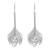 Sterling silver dangle earrings, 'Thai Peacock' - Sterling Silver Dangle Earrings (image 2a) thumbail